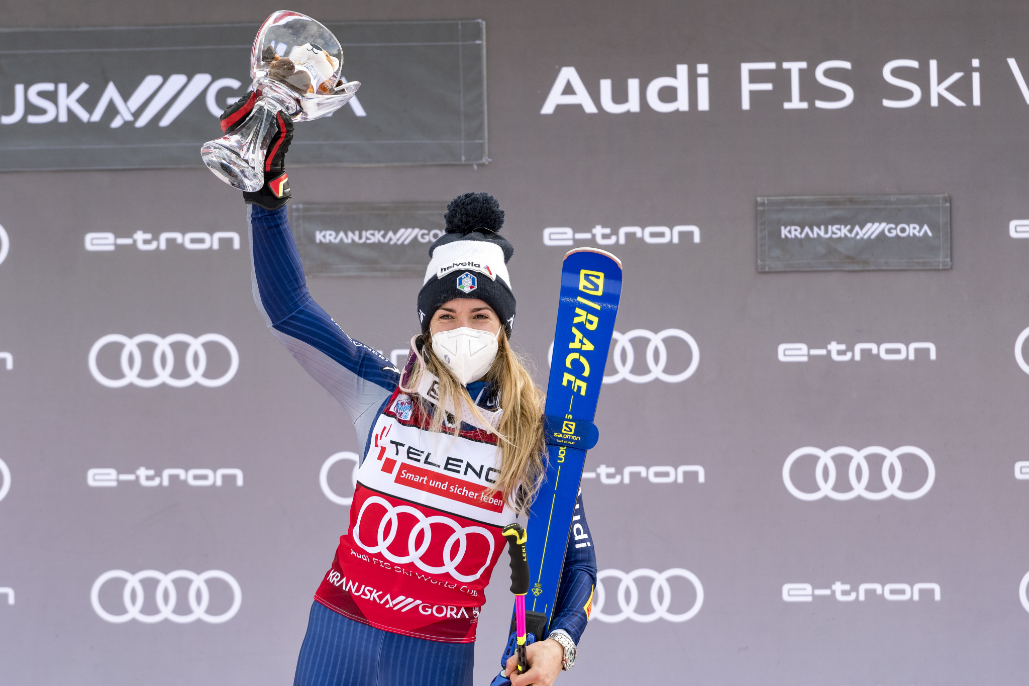 Marta Bassino extended her lead in the giant slalom World Cup standings ©Getty Images
