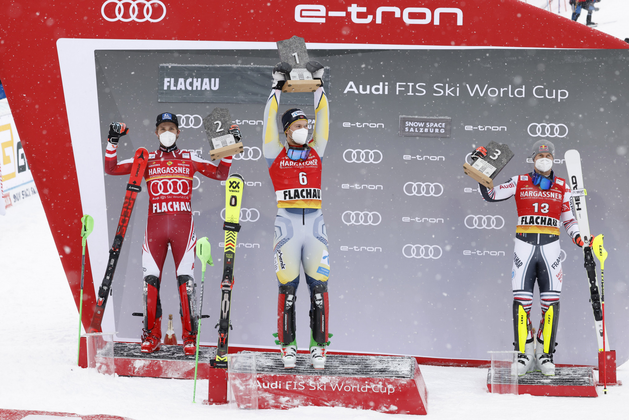 Sebastian Foss-Solevåg's persistence finally paid off with success in the men's slalom ©Getty Images