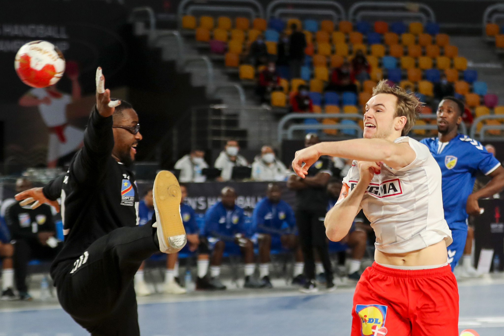 World champions Denmark comfortably beat DR Congo in Group D of the IHF Men's World Handball Championship in Egypt ©Getty Images