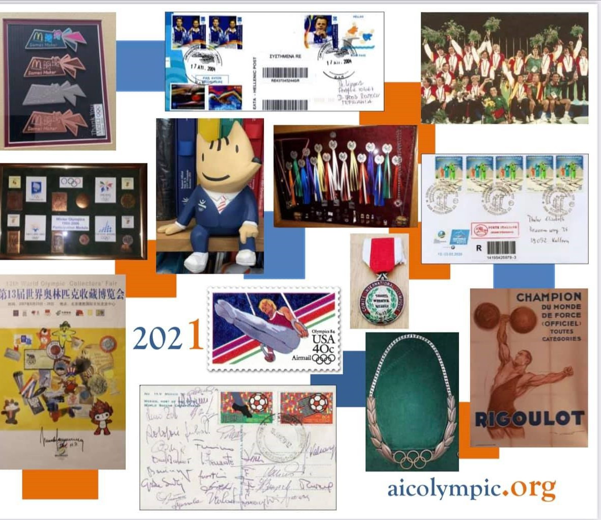 The World Olympic Collectors Fair features a wide range of memorabilia, including pins, Torches, stamps and mascots ©AICO