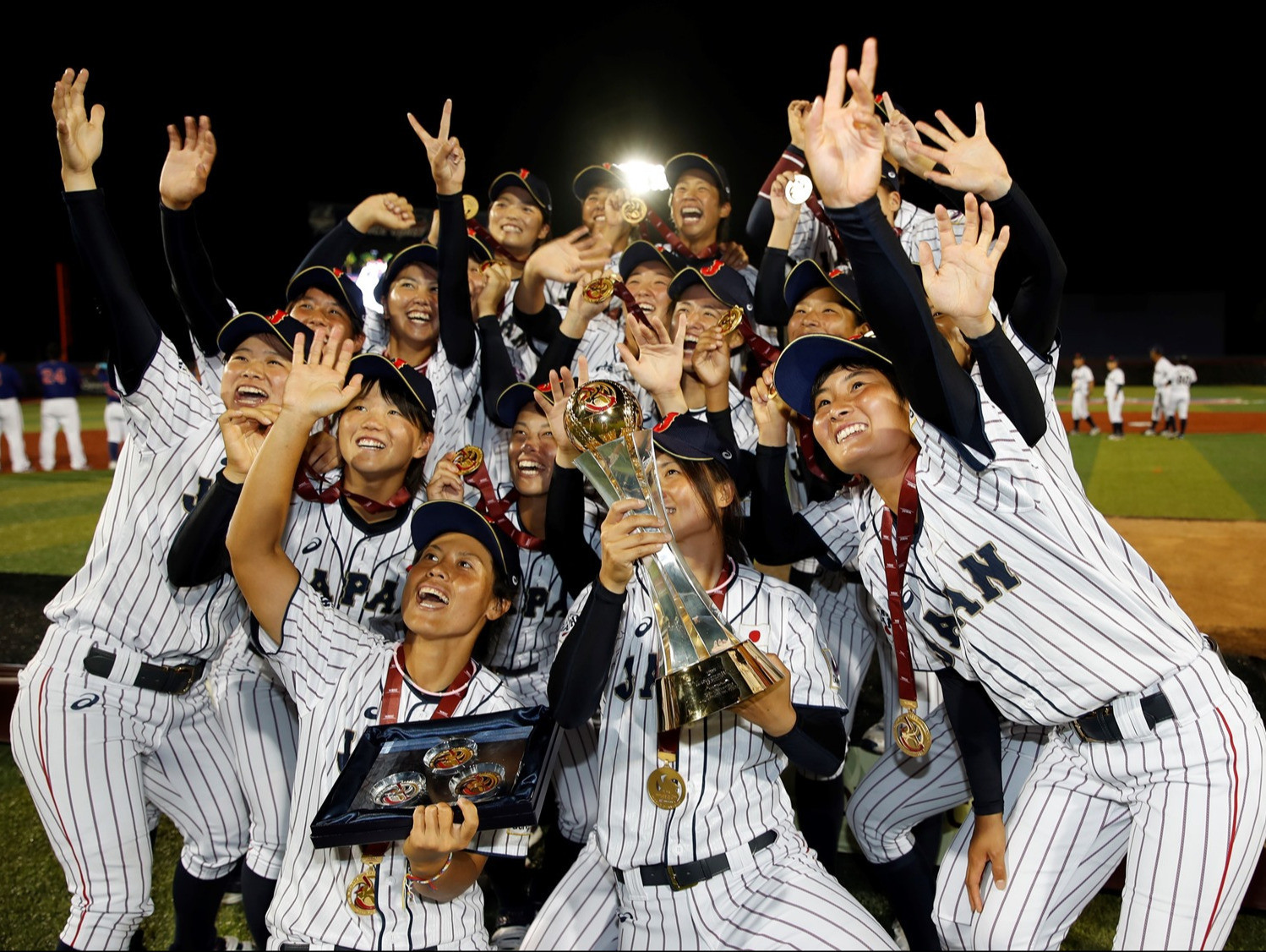 Japan's women's baseball team are seeking a seventh World Cup win in a row ©WBSC