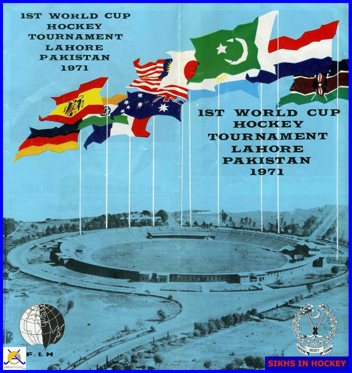 A brochure for the abortive tournament Sikhs in ©Hockey/Dil Bahra