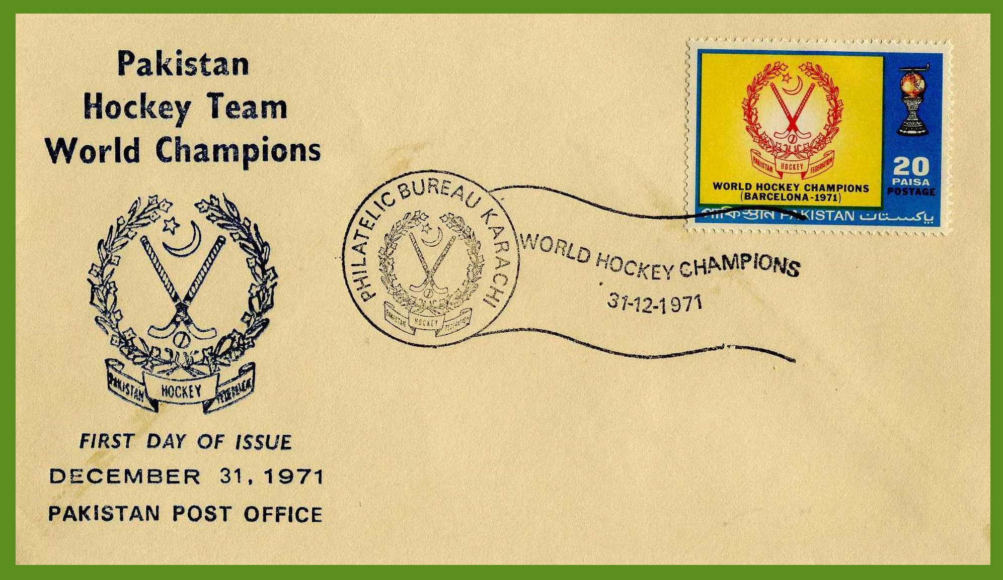 A first day cover commemorating Pakistan's victory ©Hockey/Dil Bahra