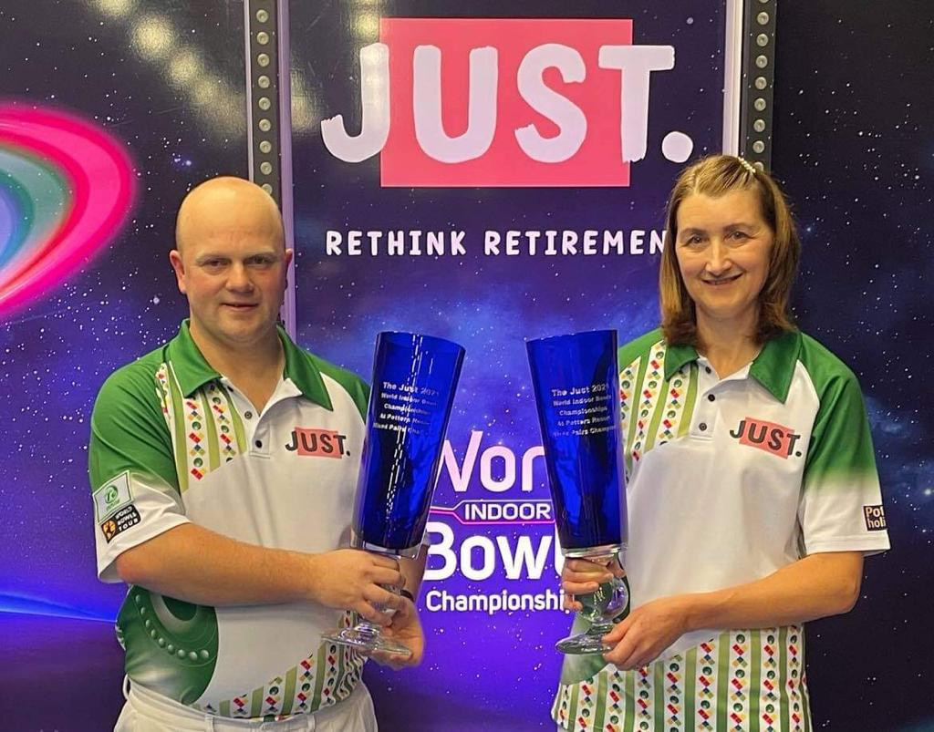 Forrest and Anderson claim mixed pairs title at World Indoor Bowls Championships
