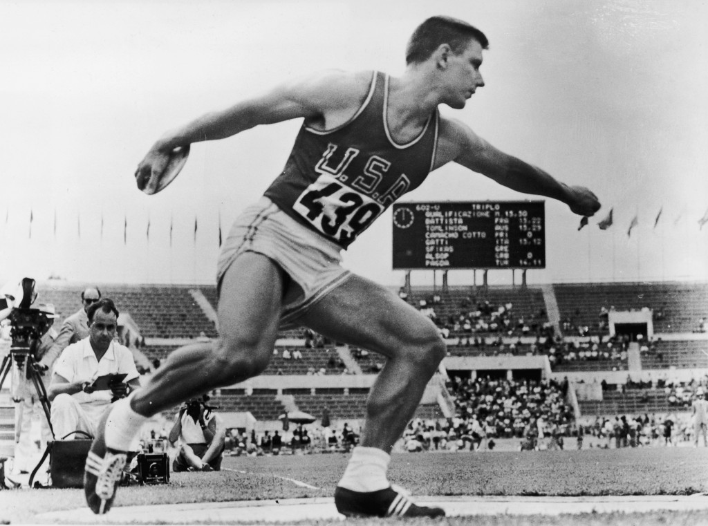 Discus thrower Al Oerter, a four-time Olympic champion, spoke about the importance of fairness