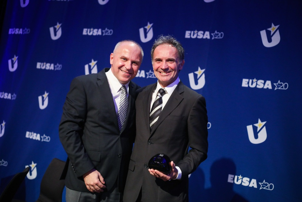 Otmar Kugovnik, former President of the Slovenian University Sports Association, was among the winners at the EUSA awards ceremony in December 2019 ©EUSA