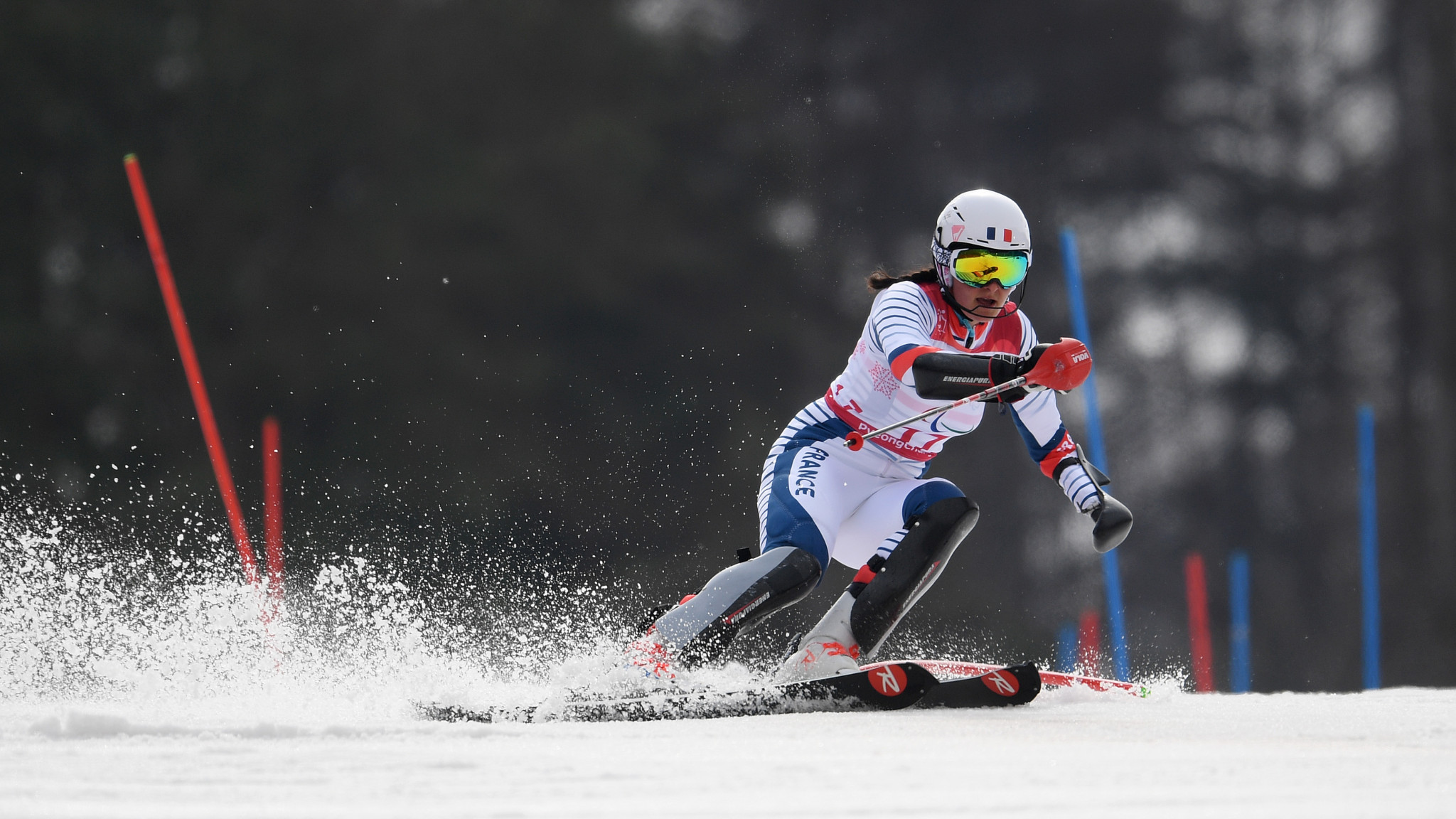 Marie Bochet of France, a 20-time world champion and six-time Paralympic champion, could only finish third in the women's standing giant slalom ©Getty Images