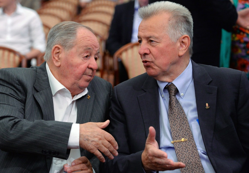 Pál Schmitt (right) has been announced as the President of the Budapest 2024 Bid Committee ©Getty Images