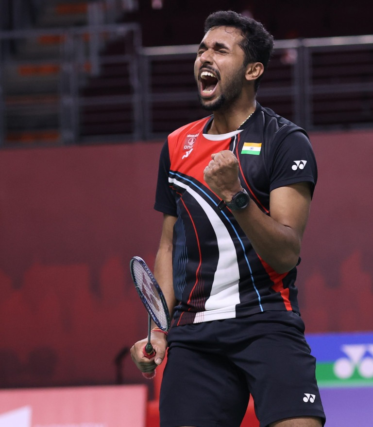 HS Prannoy saw off sixth seed Jonatan Christie in three games ©BWF