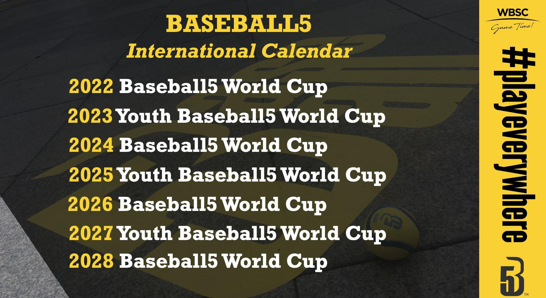 An international calendar for Baseball5 events has been outlined ©WBSC