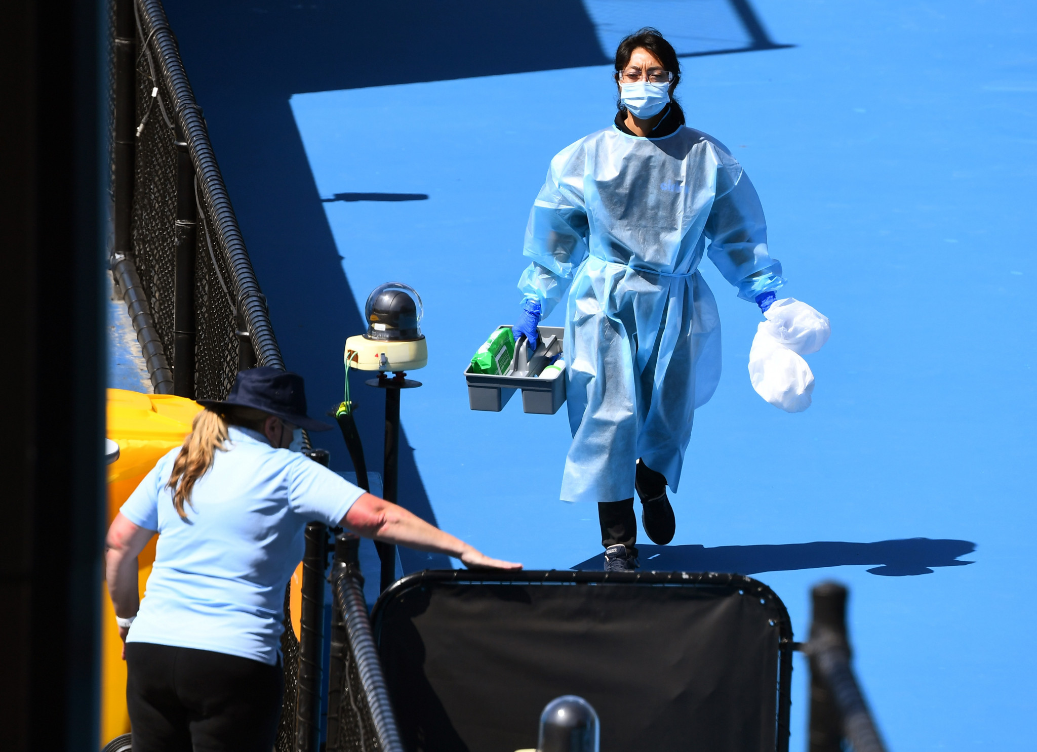 Strict anti-virus measures are in place in Melbourne ahead of the Australian Open