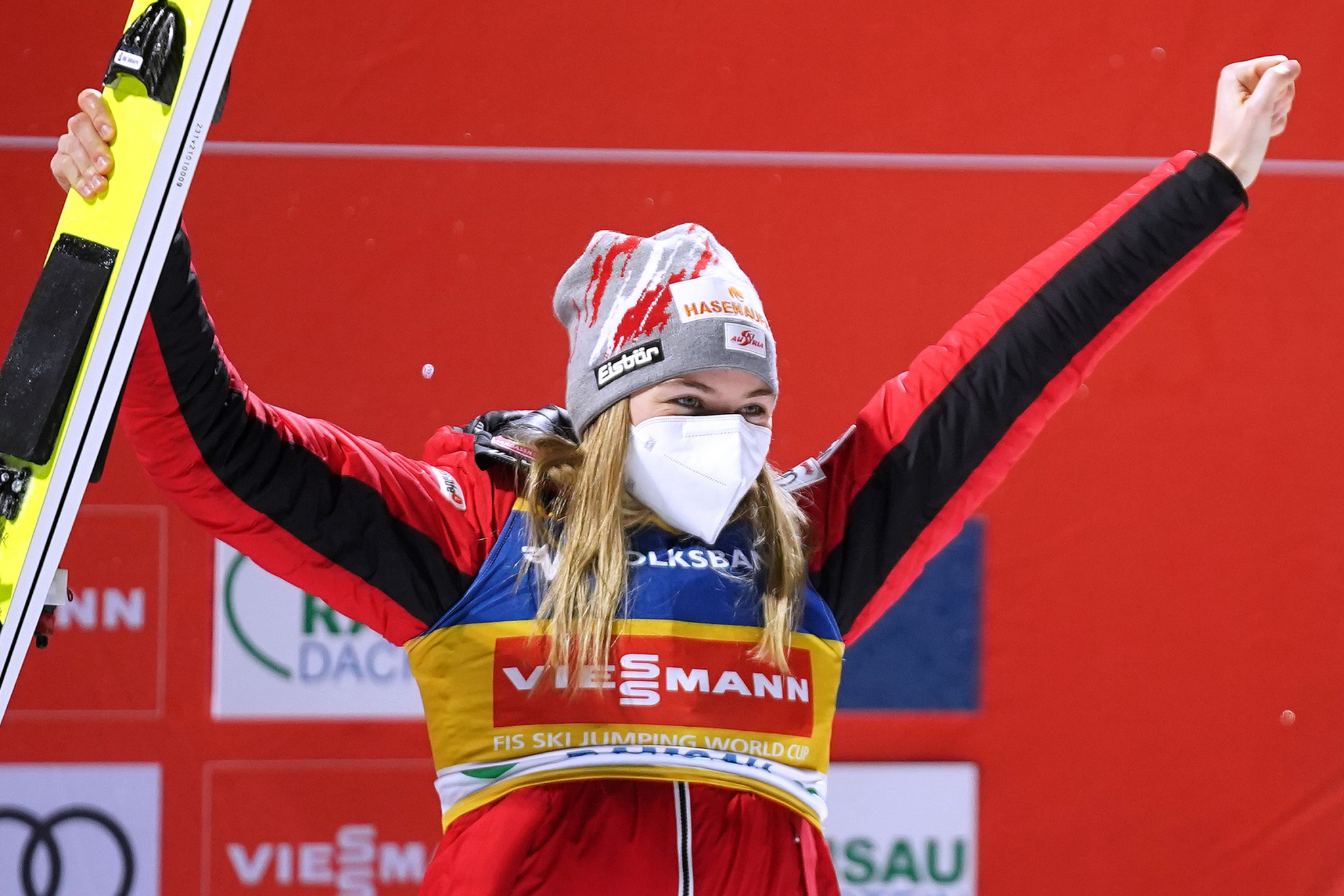 Marita Kramer of Austria was the winner at the season-opening FIS Ski Jumping World Cup event in Ramsau ©Getty Images