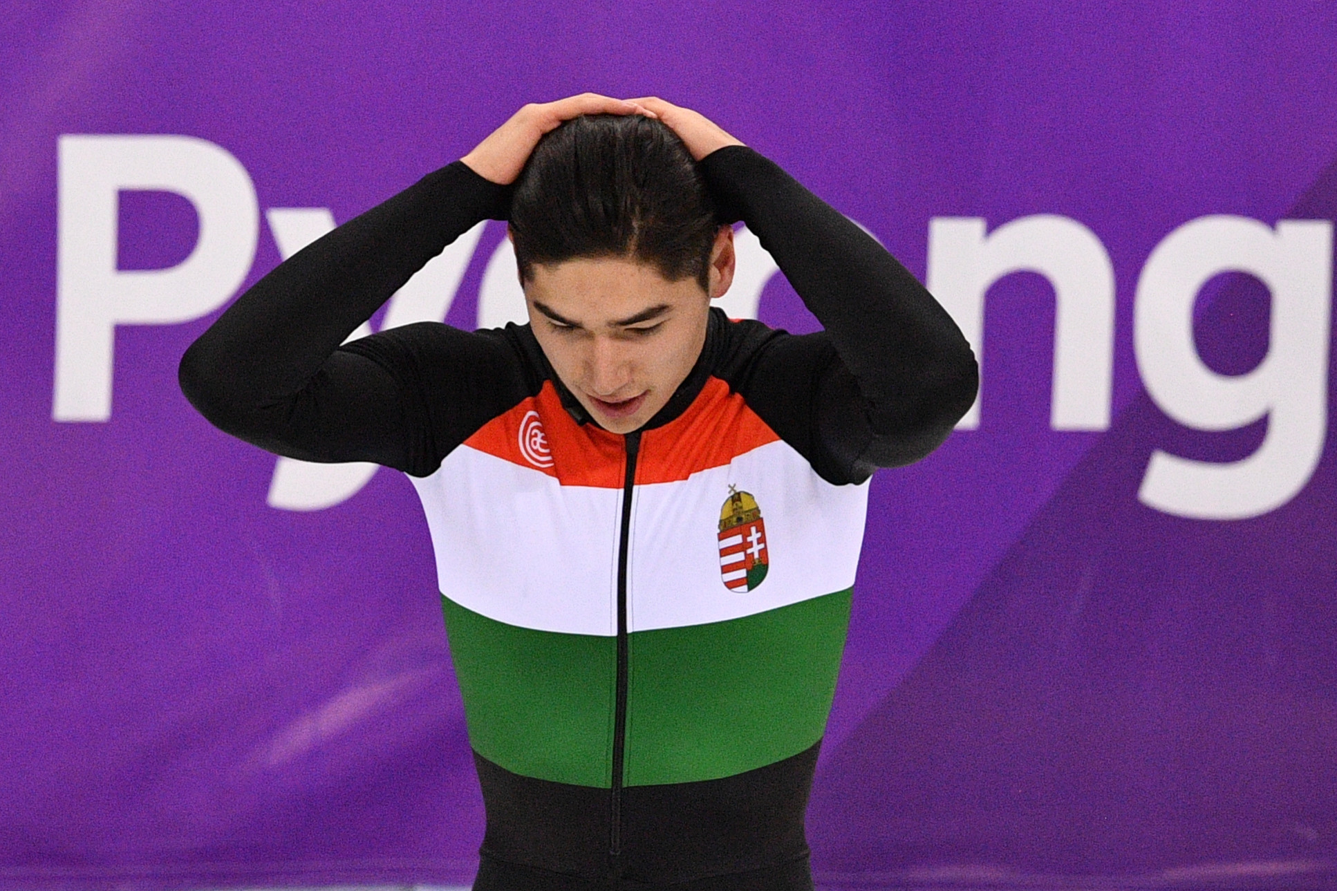 Shaoang Liu was penalised in the opening round of the 1500m ©Getty Images
