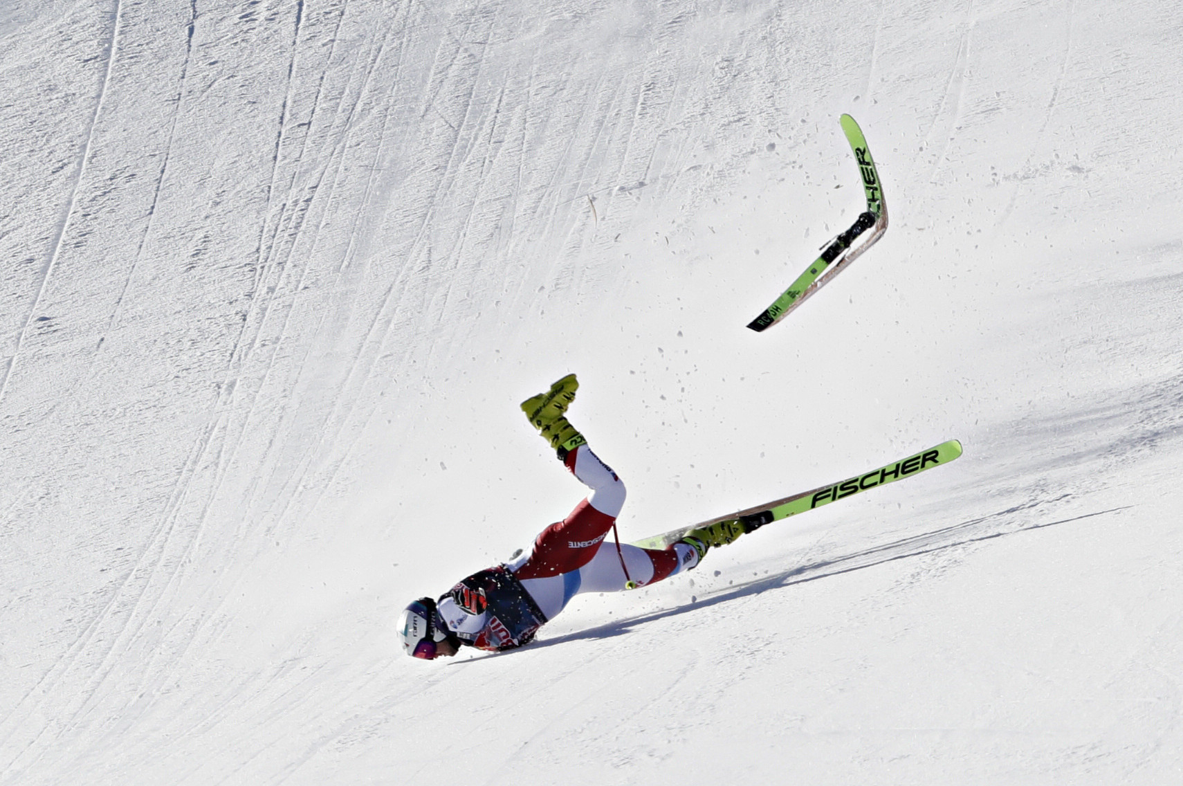 Switzerland's Urs Kryenbuhl was airlifted to hospital following a crash at Kitzbühel  ©Getty Images