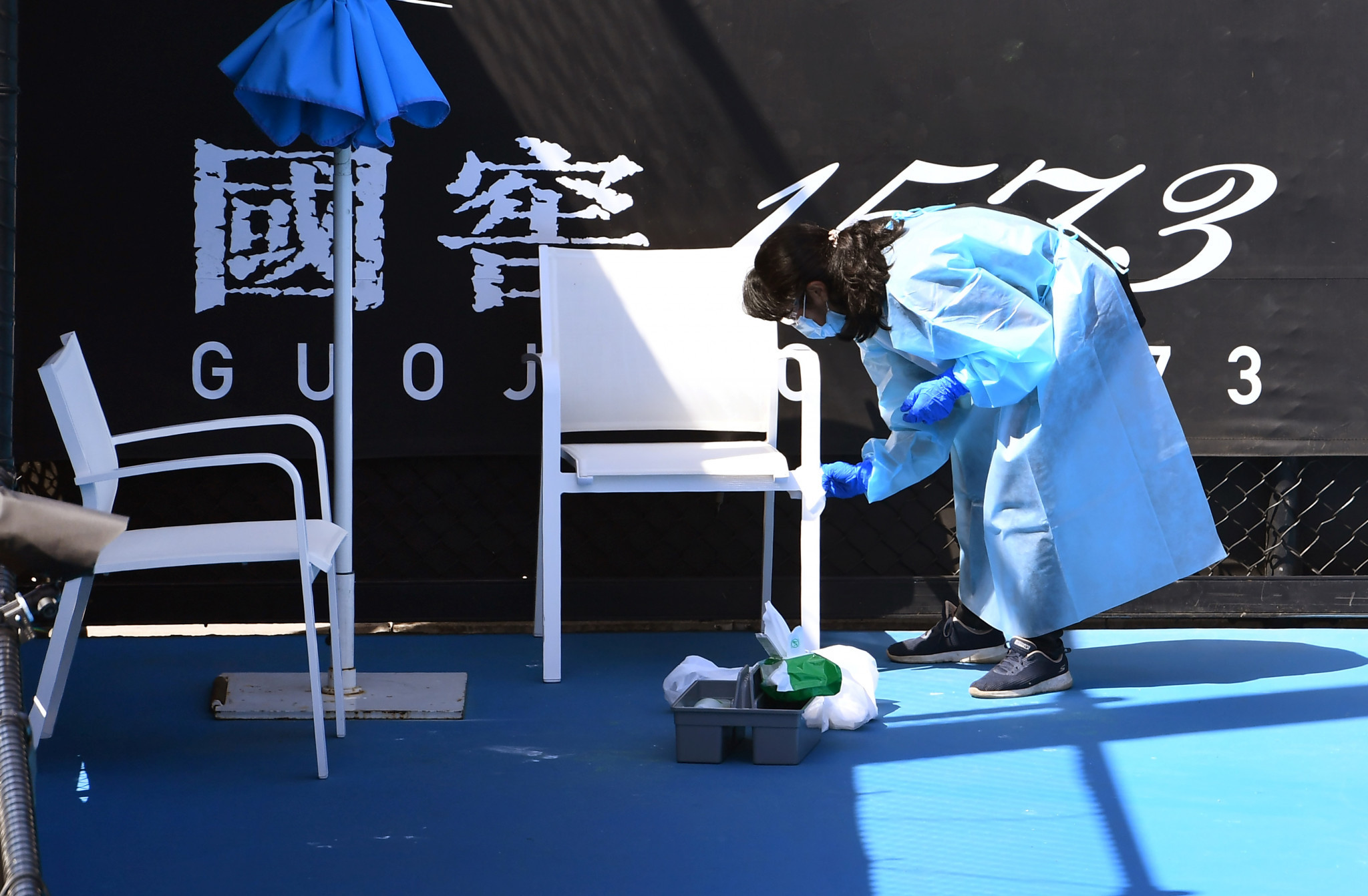 Players under the original quarantine protocol are only allowed out of their rooms five hours a day to train ahead of the Australian Open