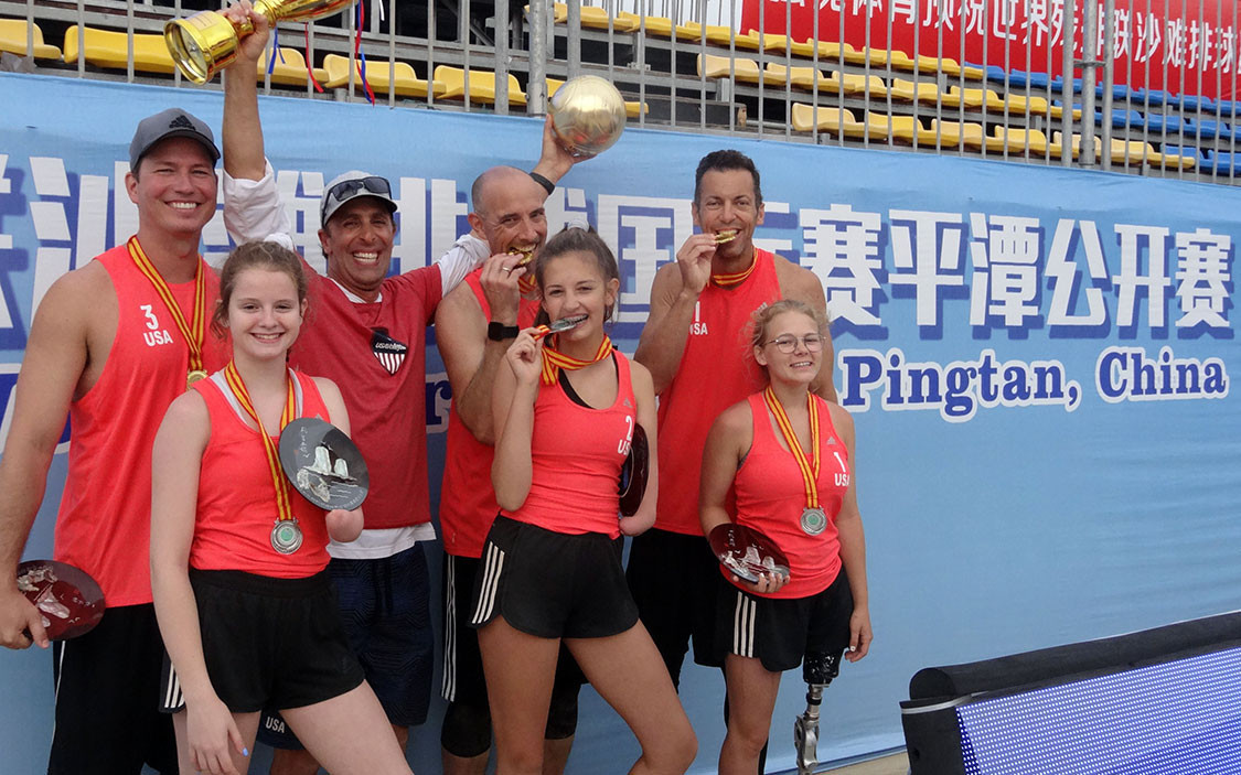 The US won gold and silver in beach ParaVolley at the 2019 World ParaVolley Beach World Series event in Pingtan ©USA Volleyball