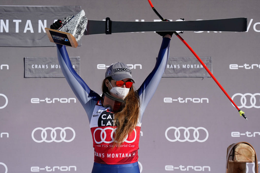 The reigning Olympic champion has won four World Cup downhill events in a row ©Getty Images
