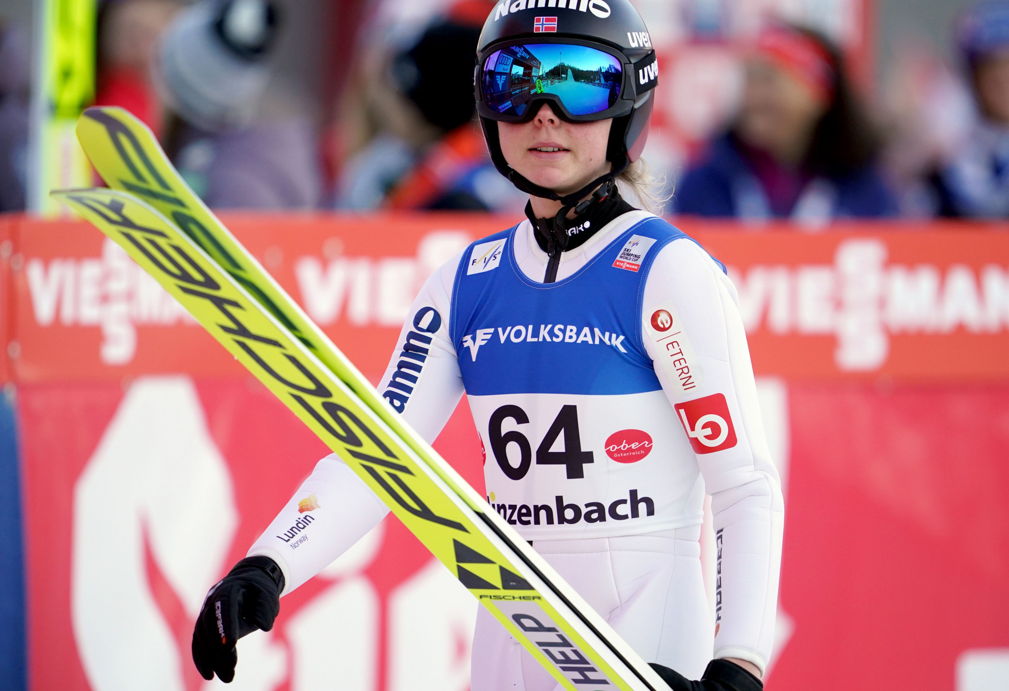 Maren Lundby impressed for the Norwegian team at the FIS Ski Jumping World Cup in Ljubno ©Getty Images