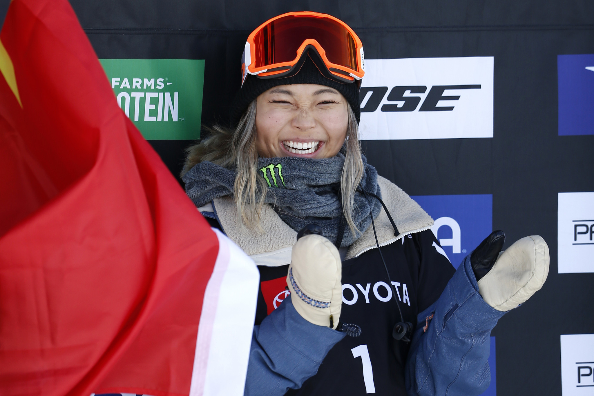 Kim back with a bang in Laax with halfpipe Snowboard World Cup triumph