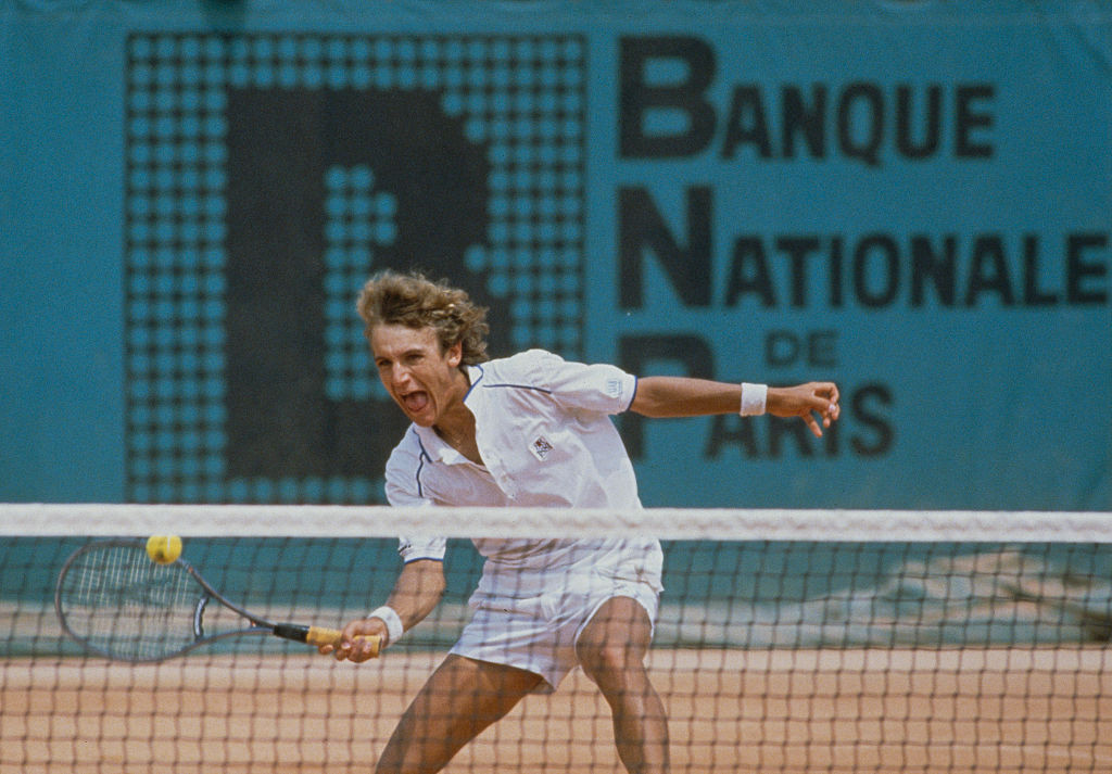 Mats Wilander, aged 17, pictured during the 1982 final at the French Open, where he became the youngest ever male singles winner at a Grand Slam event ©Getty Images