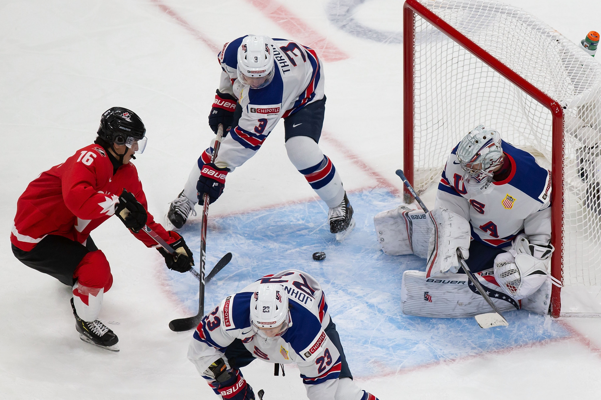 Despite seven positive COVID cases in the run-up to competition, the IIHF World Junior Championship in Edmonton concluded without further positive tests, with United States beating the hosts in the final ©Getty Images