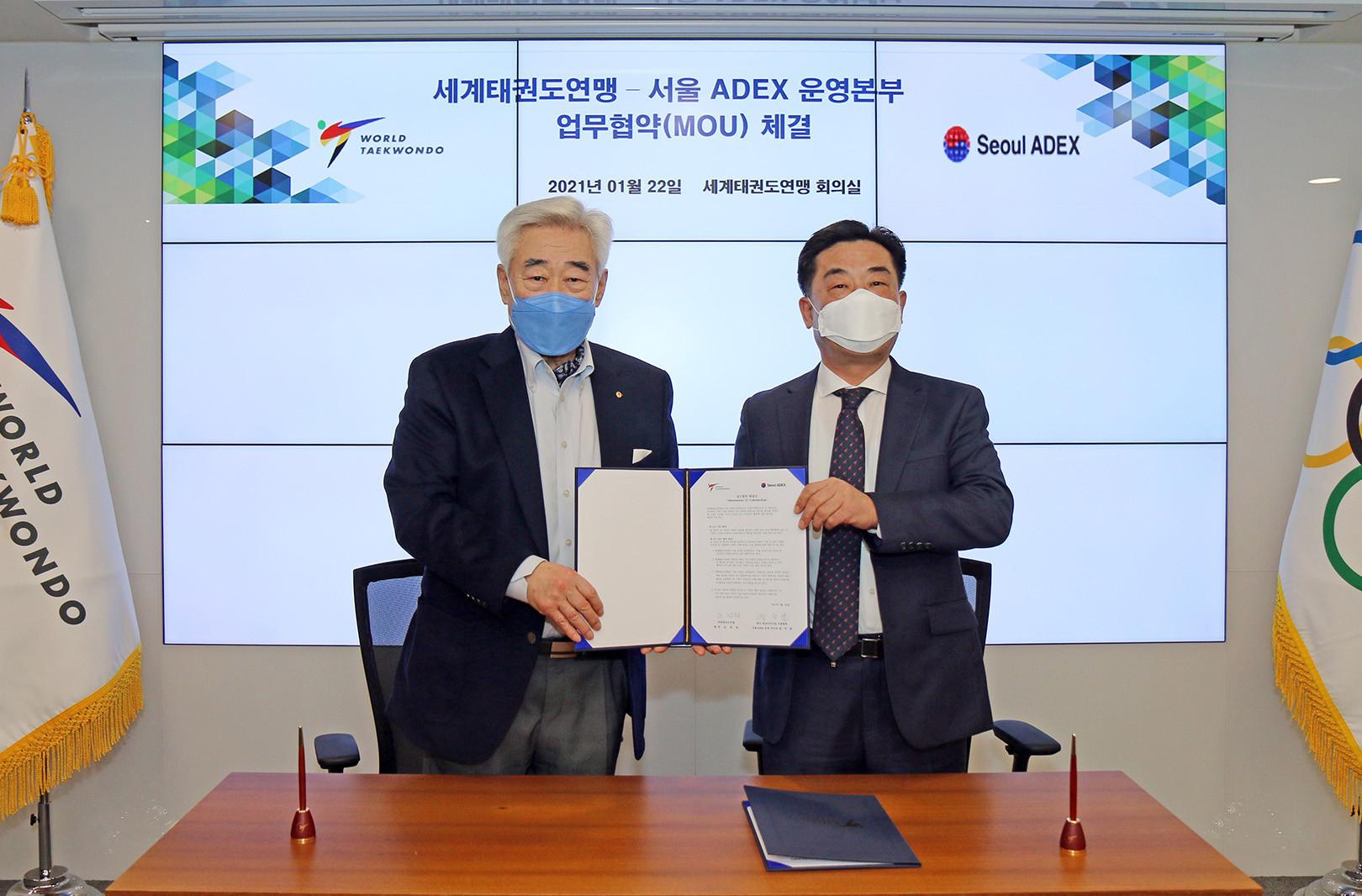 World Taekwondo signs MoU with Seoul International Aerospace and Defense Exhibition