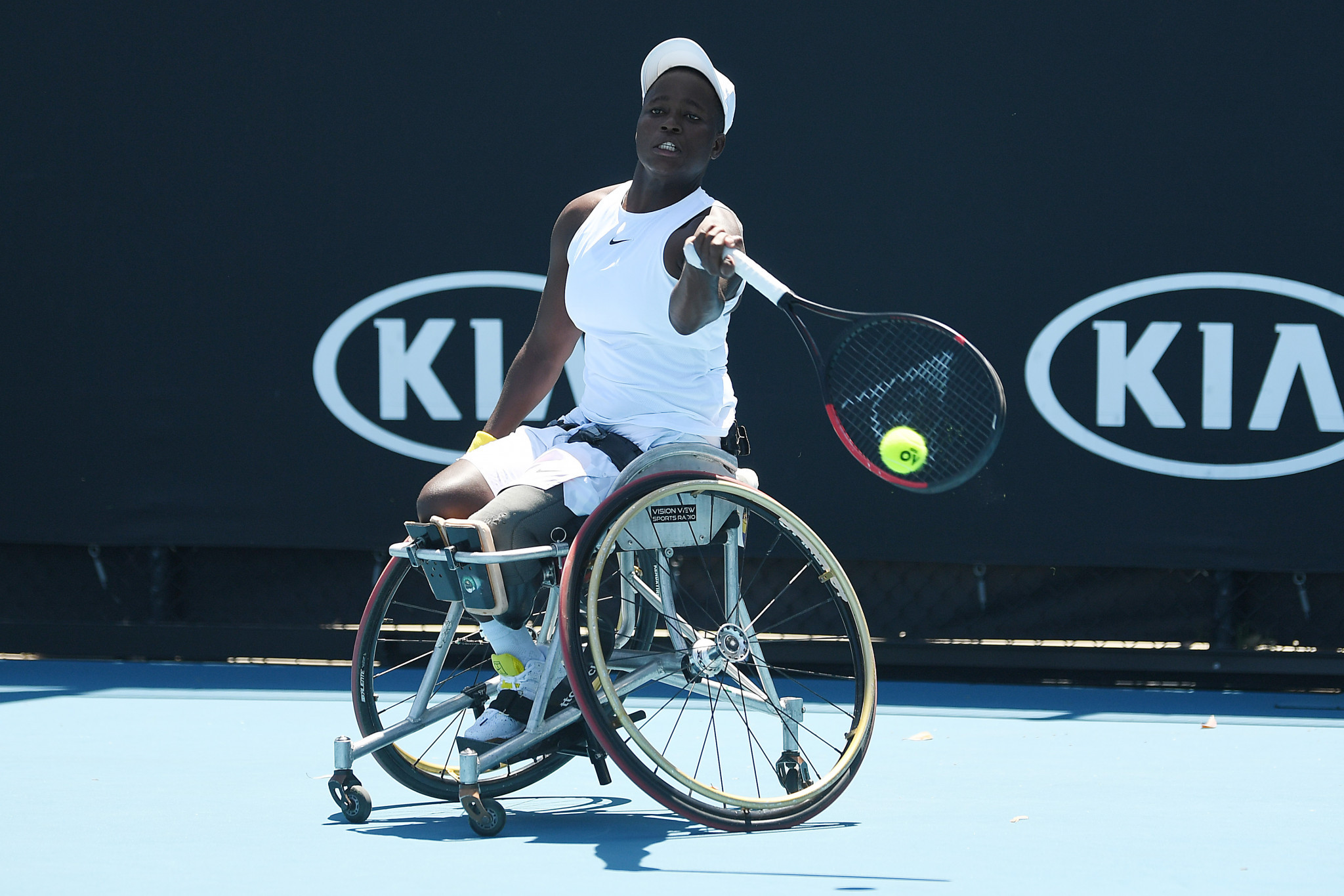 Kgothatso Montjane exited last year's Australian Open at the semi-final stage ©Getty Images