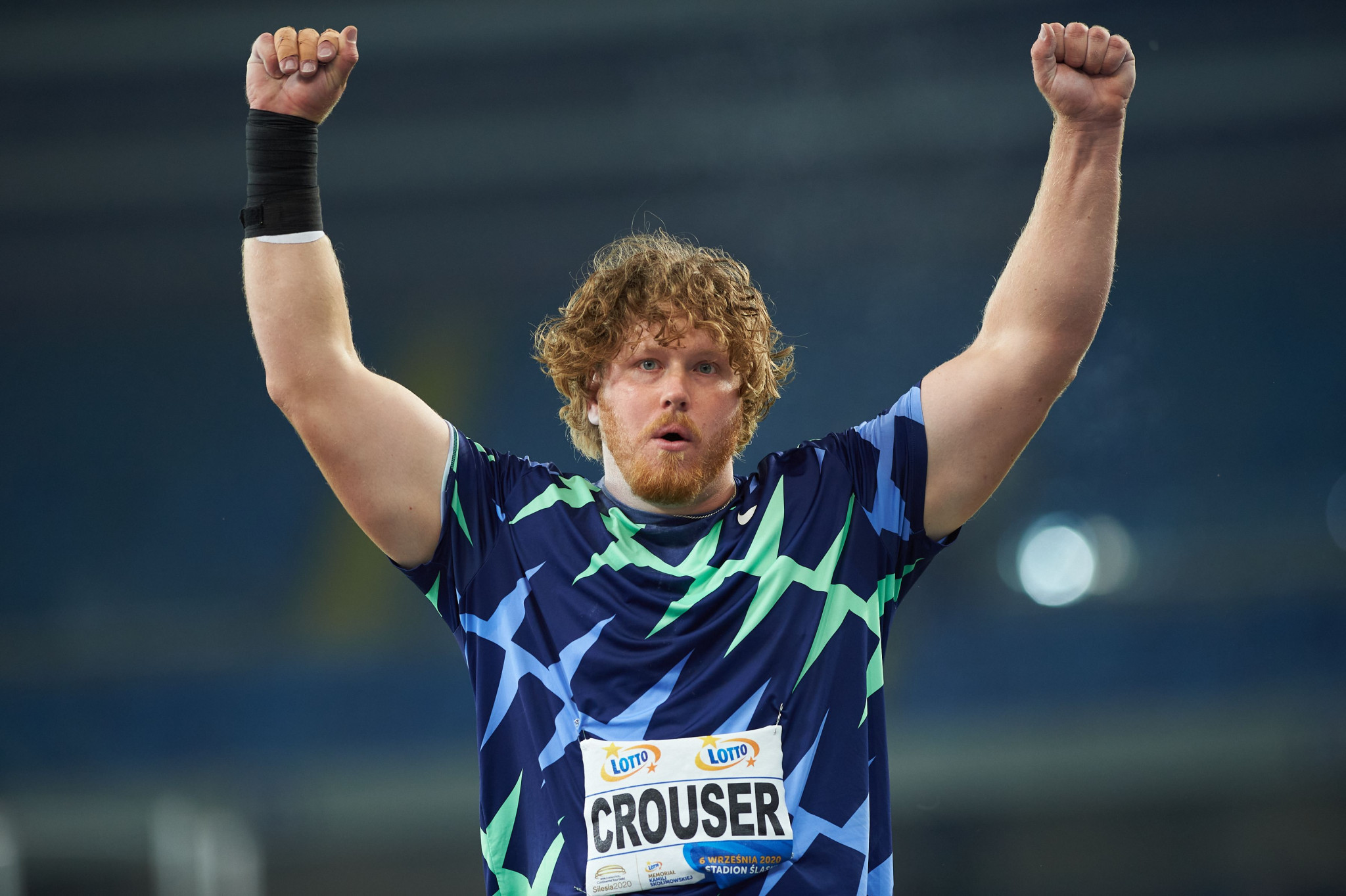 Olympic champion Crouser sets new indoor shot put world record