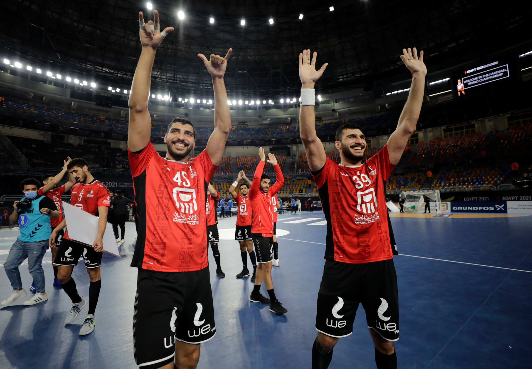 Hosts Egypt are through to the World Men's Handball Championship quarter-finals ©Getty Images