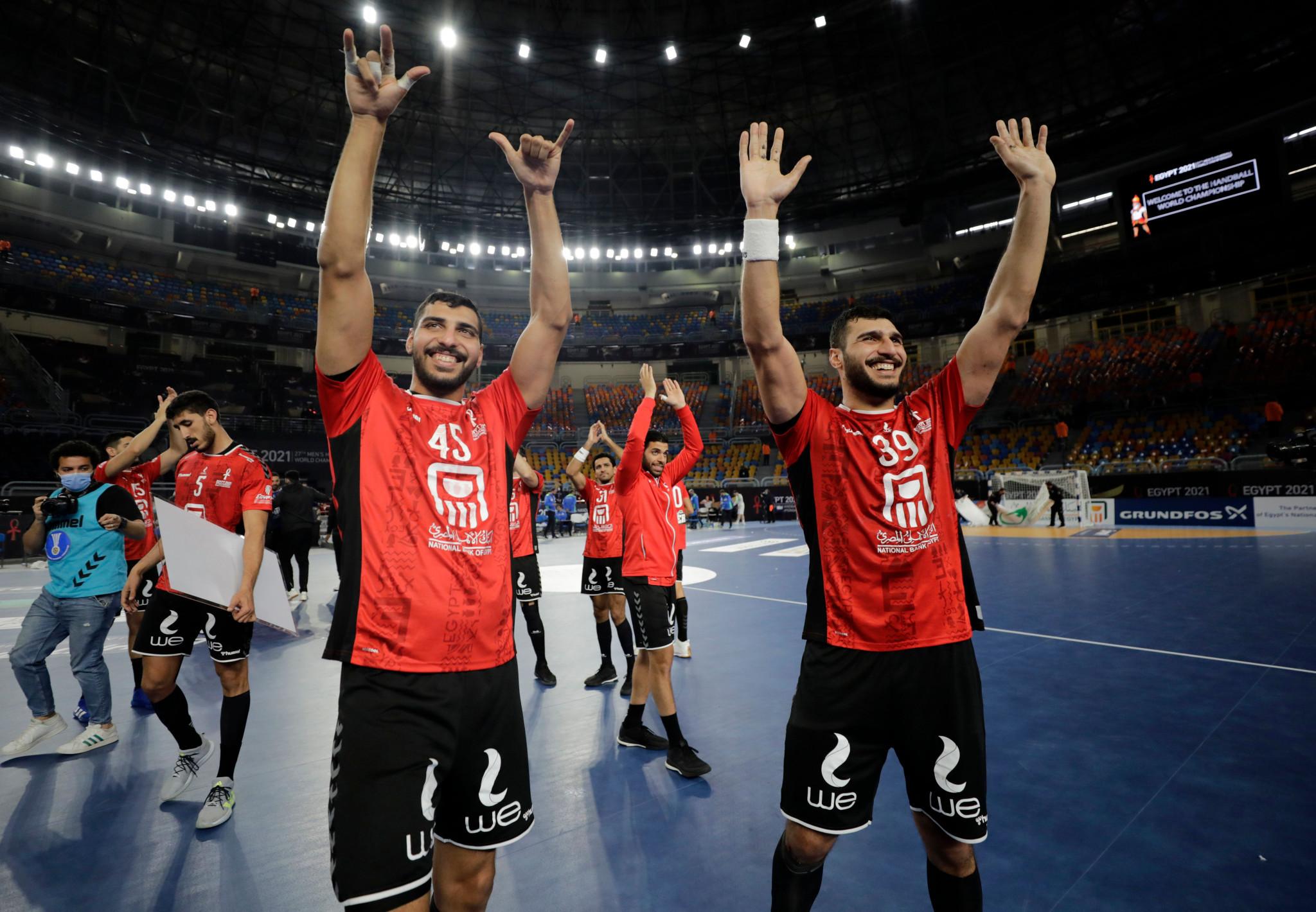 Hosts Egypt into World Men's Handball Championship quarter-finals