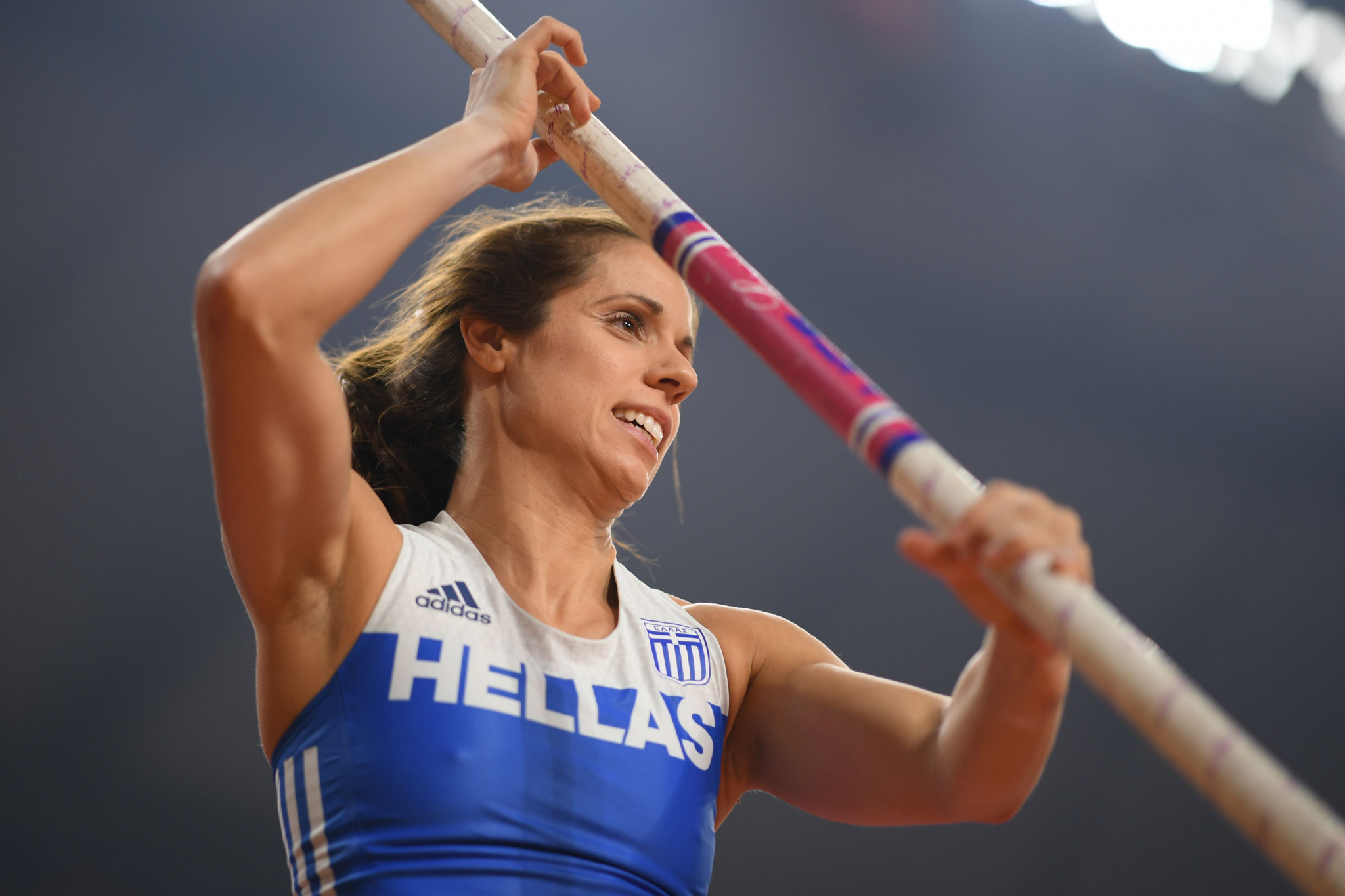 Olympic pole vault champion Katerina Stefanidi supports the staging of Tokyo 2020 this year ©Getty Images