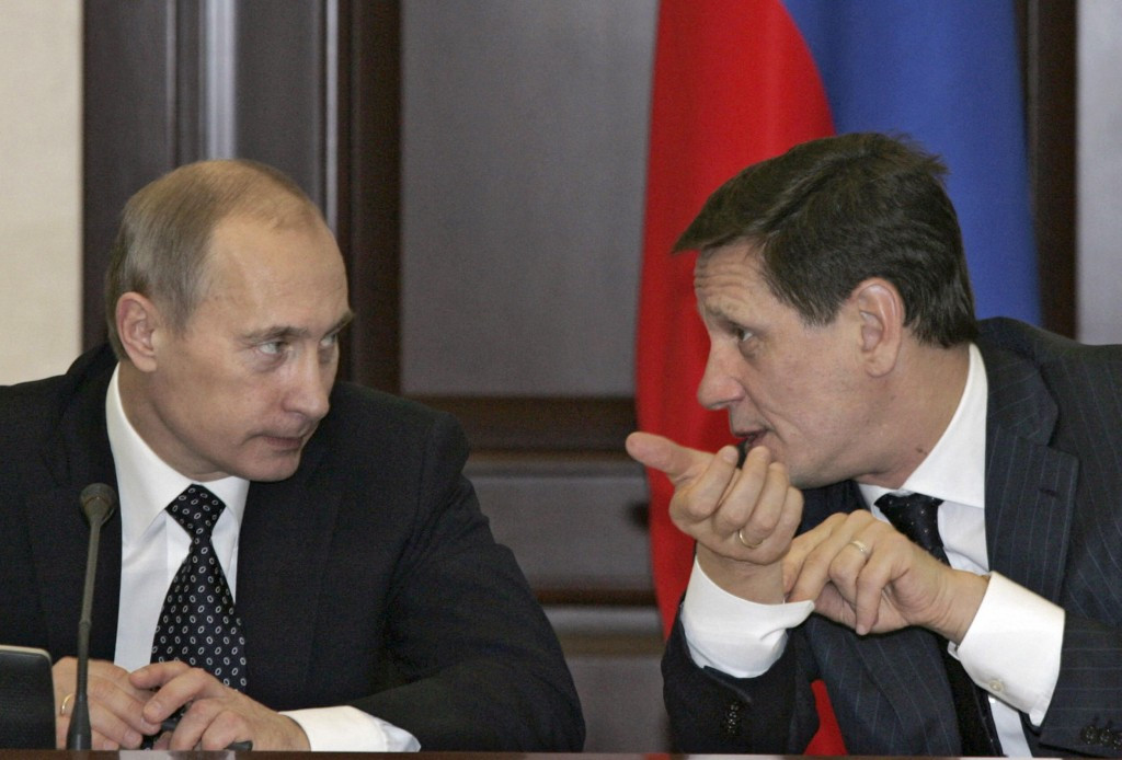 Russian Olympic Committee President Alexander Zhukov (right) does not why the country's leader Vladimir Putin is mentioned in the WADA Independent Commission report ©Getty Images