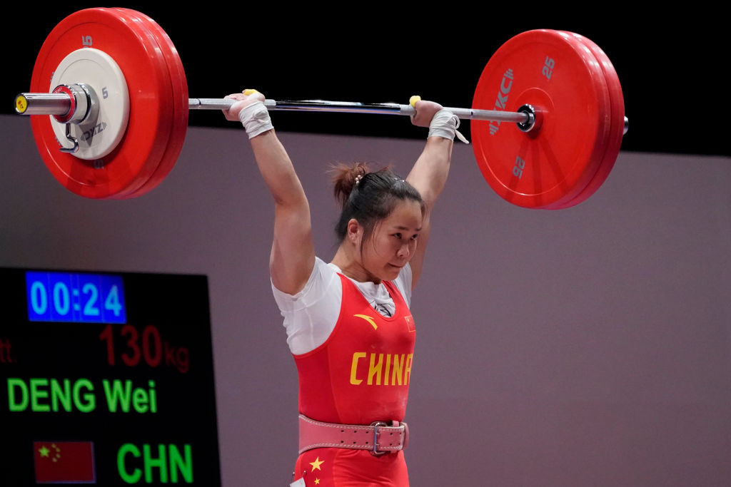 China has a strong record in Olympic weightlifting, with Deng Wei among the star names ©Getty Images