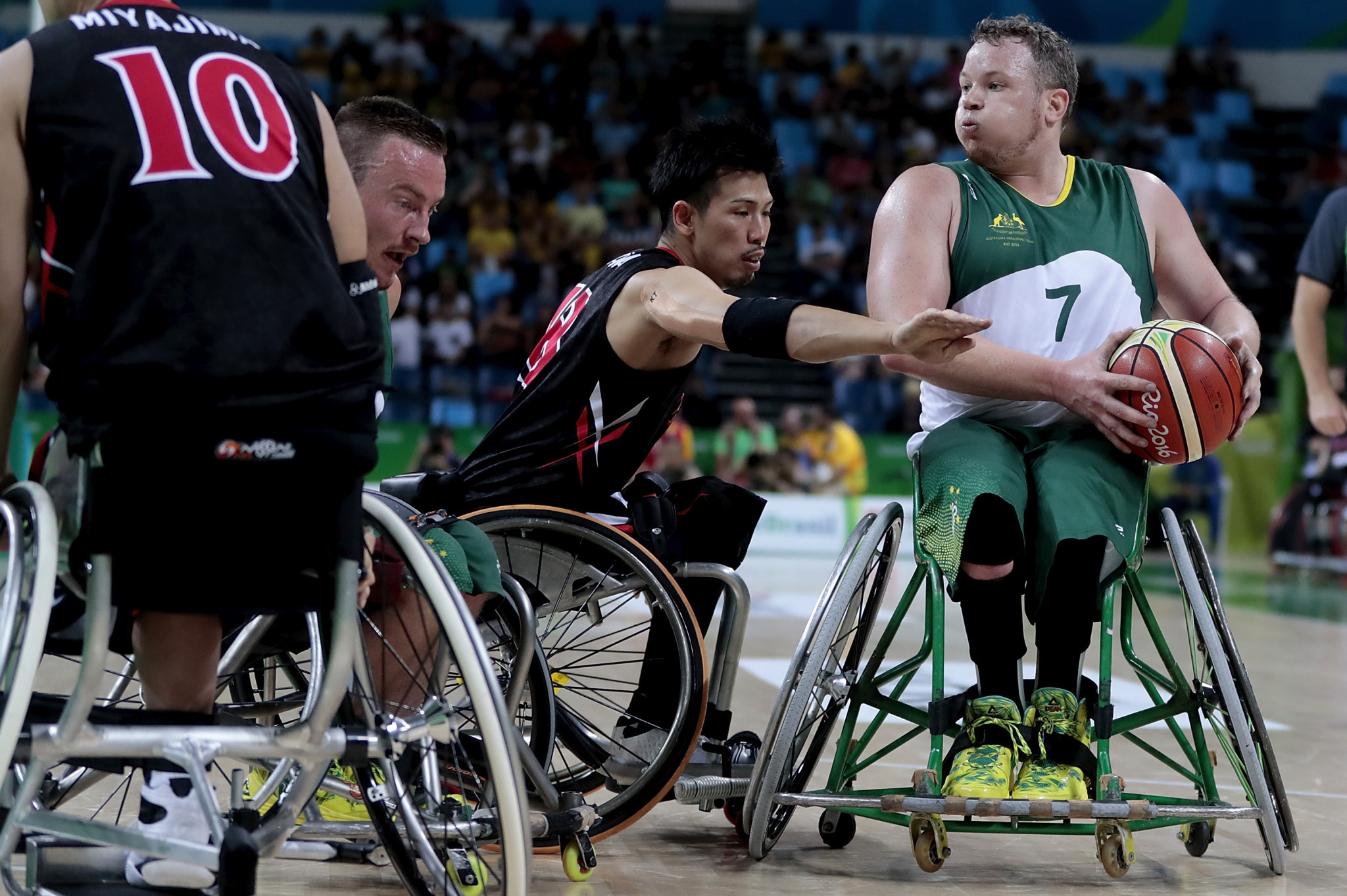 The Australian wheelchair basketball team made the quarter-finals at the Rio 2016 Paralympics ©Getty Images