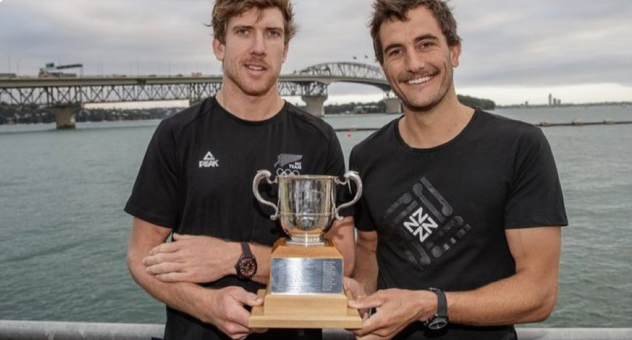 Peter Burling and Blair Tuke have won the 2020 Lonsdale Cup ©NZOC