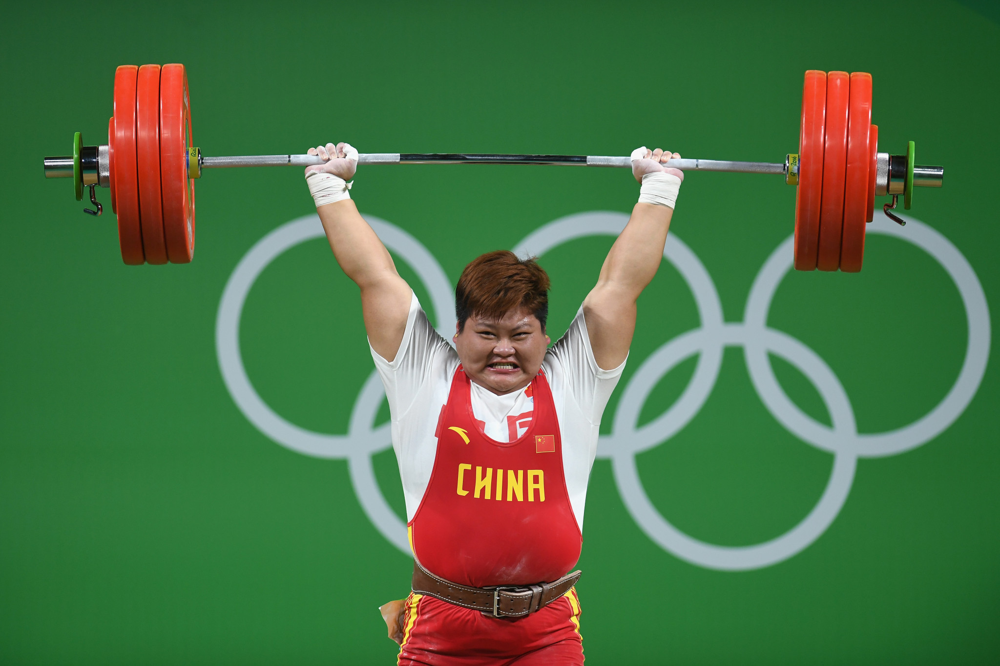 Meng Suping was one of five five Chinese Olympic weightlifting champions at Rio 2016 ©Getty Images
