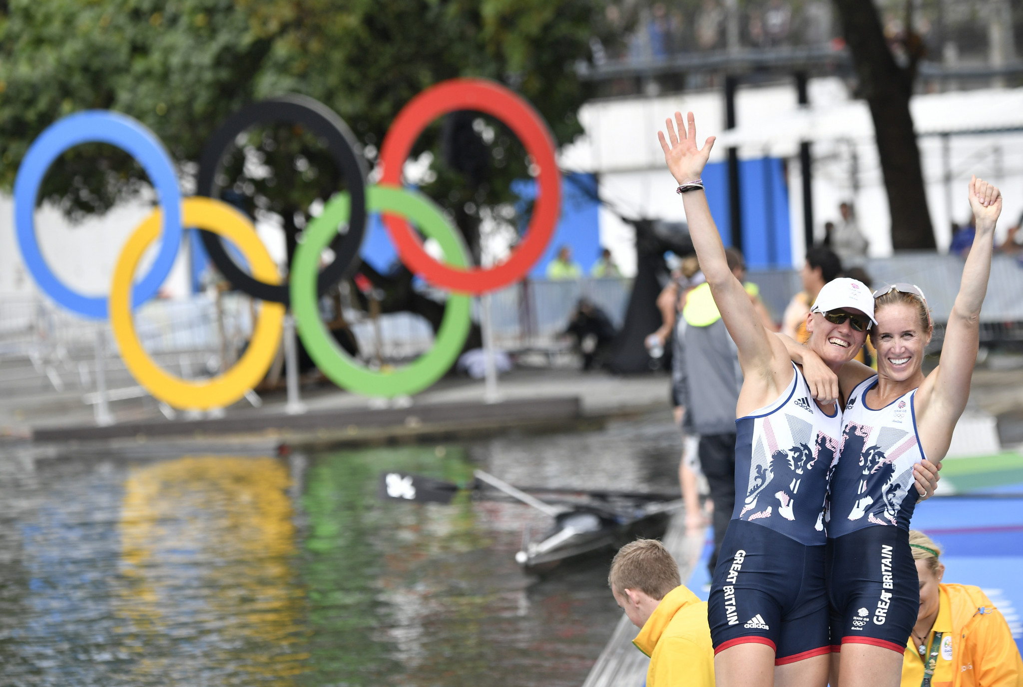 Helen Glover earned two Olympic golds in the women's coxless pairs with Heather Stanning ©Getty Images