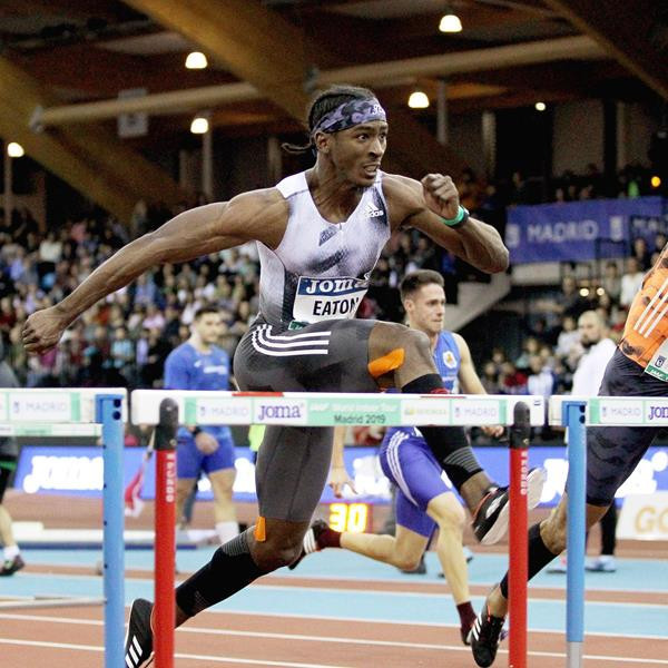 World indoor silver medallist Jarret Eaton is among the field for the men's 60m hurdles ©World Athletics