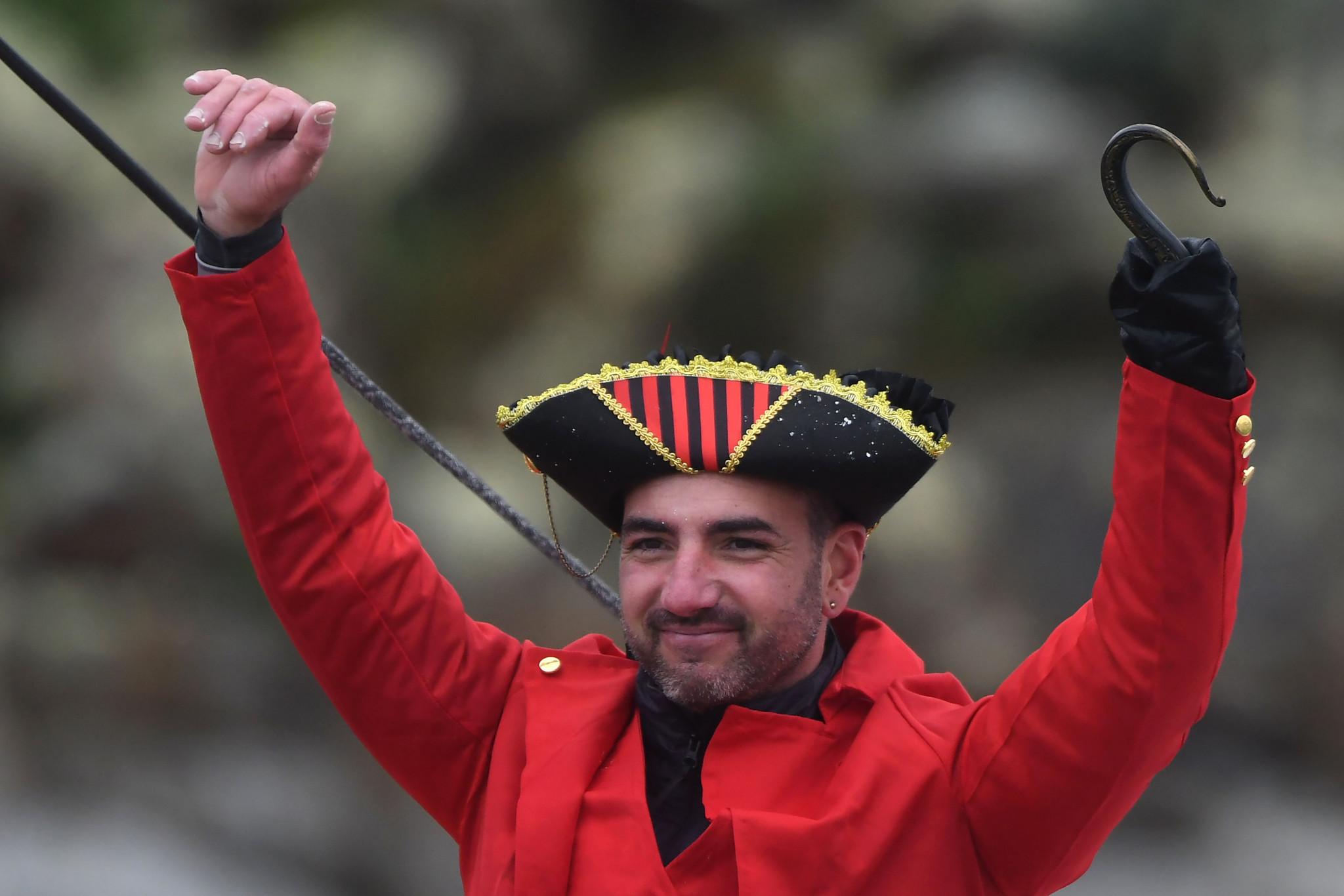 Damien Seguin finished the Vendée Globe dressed as Captain Hook ©Getty Images