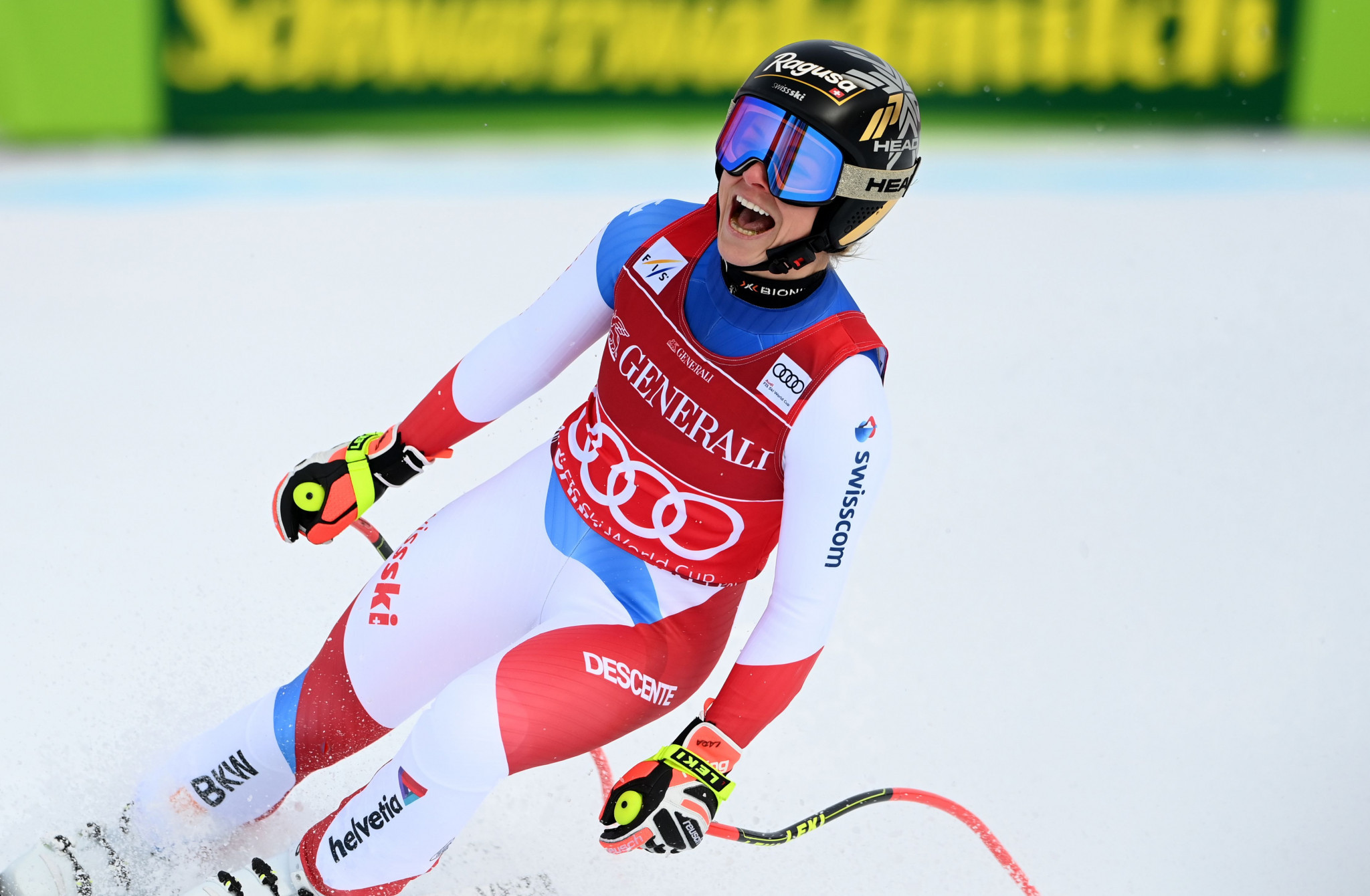 Gut-Behrami wins third consecutive super-G race at Alpine Skiing World Cup