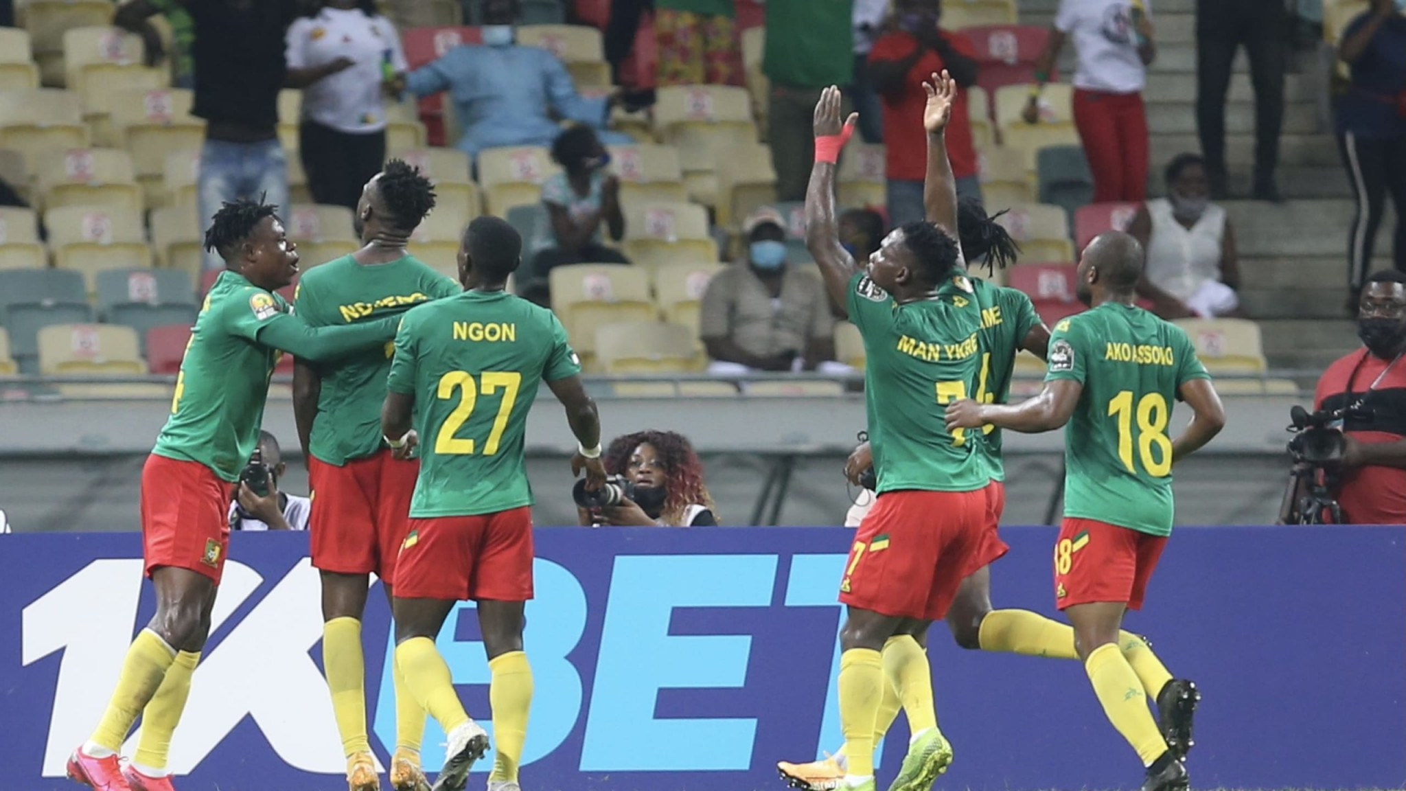 Hosts Cameroon are through to the semi-finals of the African Nations Championship ©CAF
