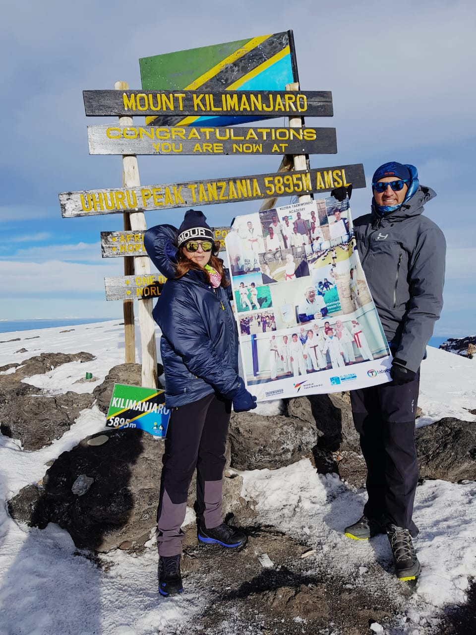 The trip was to raise funds for the Taekwondo Humanitarian Foundation ©THF