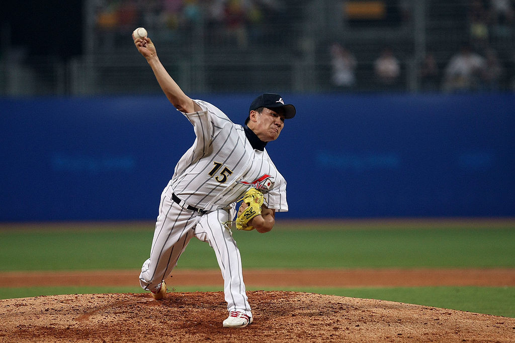 Masahiro Tanaka helped Japan to a fourth-place finish in the baseball contest at the Beijing 2008 Olympic Games ©Getty Images