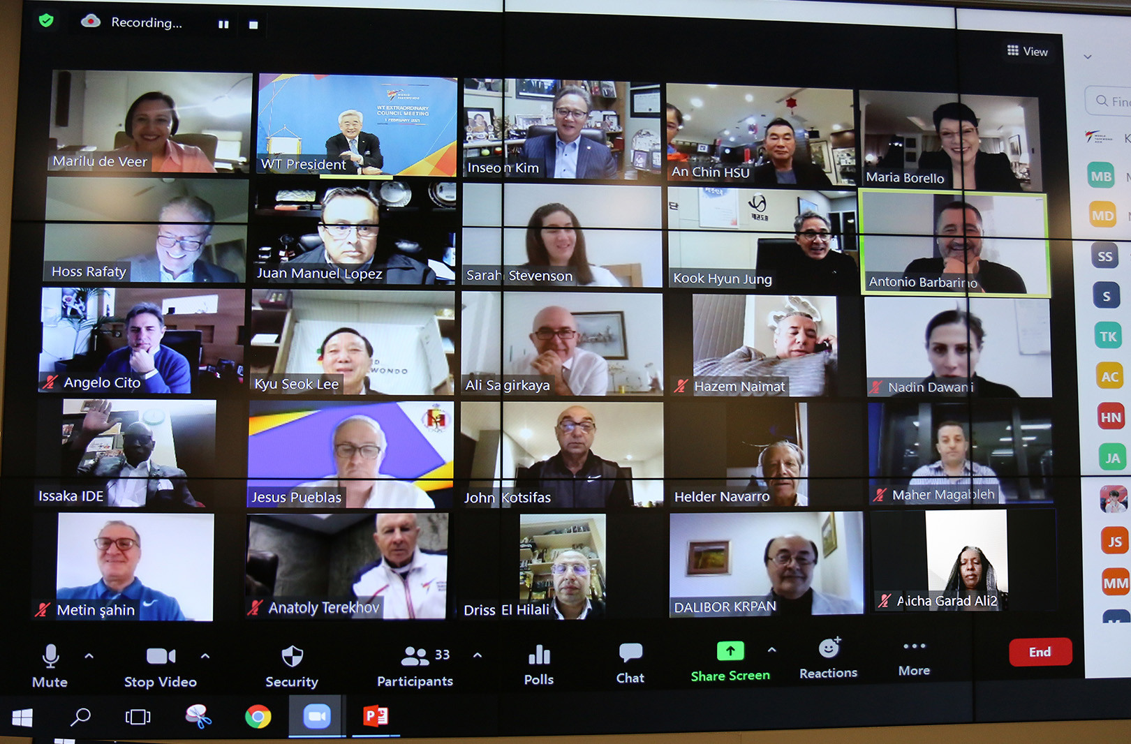 World Taekwondo Council discusses safe return of competition during virtual meeting
