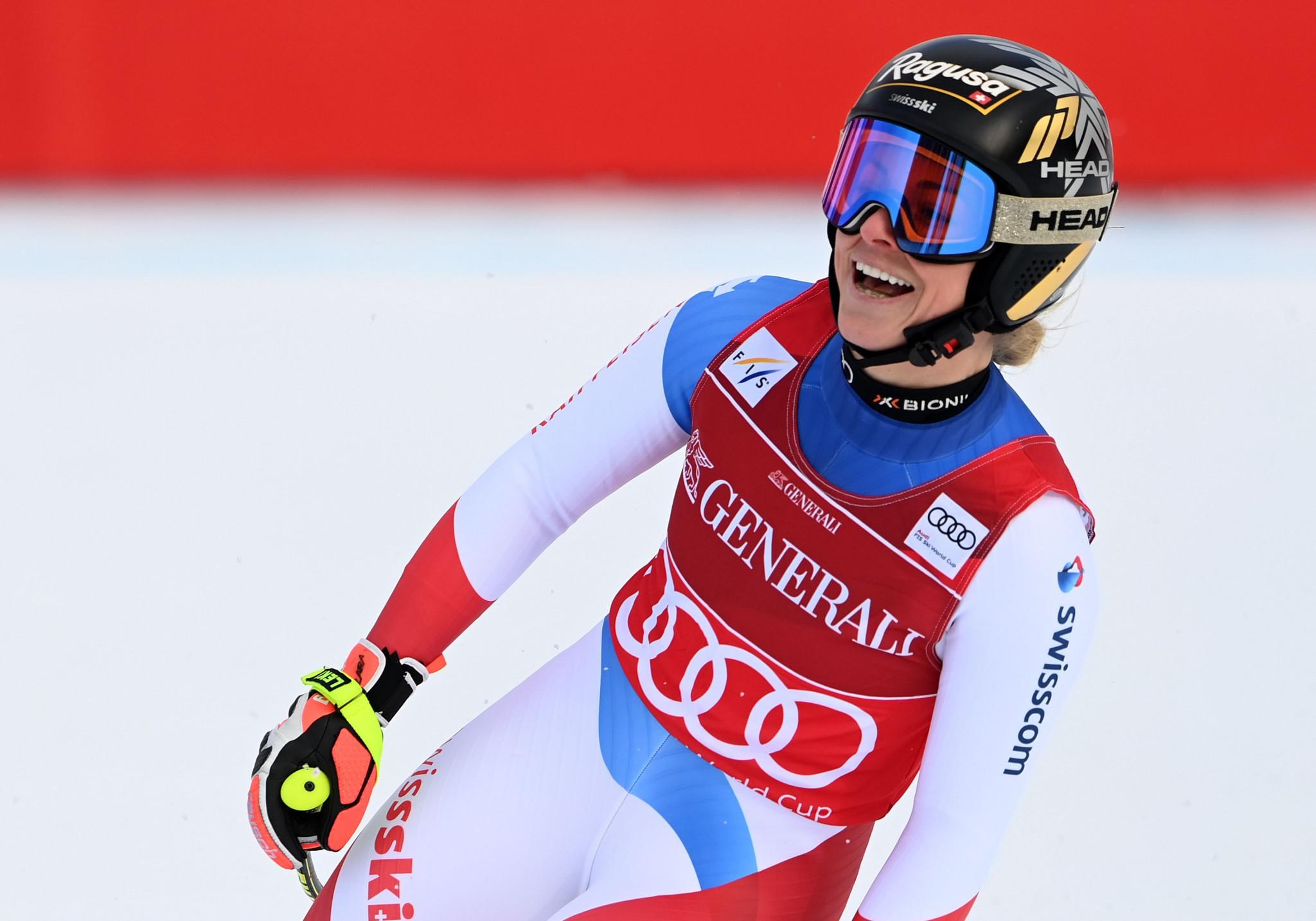 Gut-Behrami continues super-G domination at FIS Alpine Ski World Cup