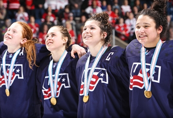 United States earn record fifth title at IIHF World Women's Under-18 Championship after beating hosts Canada