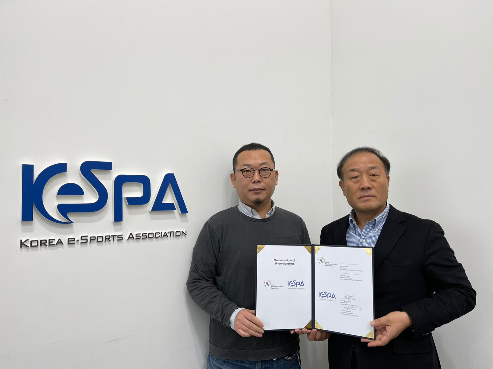 The Korean Electronic Sports Association signed a MoU with the Asian Electronic Sports Federation ©AESF