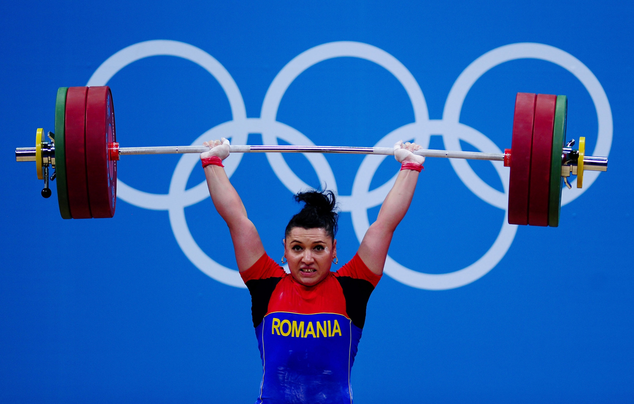 Roxana Cocos was one of four Romanian weightlifters to test positive for banned drugs in re-tests from London 2012, losing a silver medal in the 69kg as a result ©Getty Images
