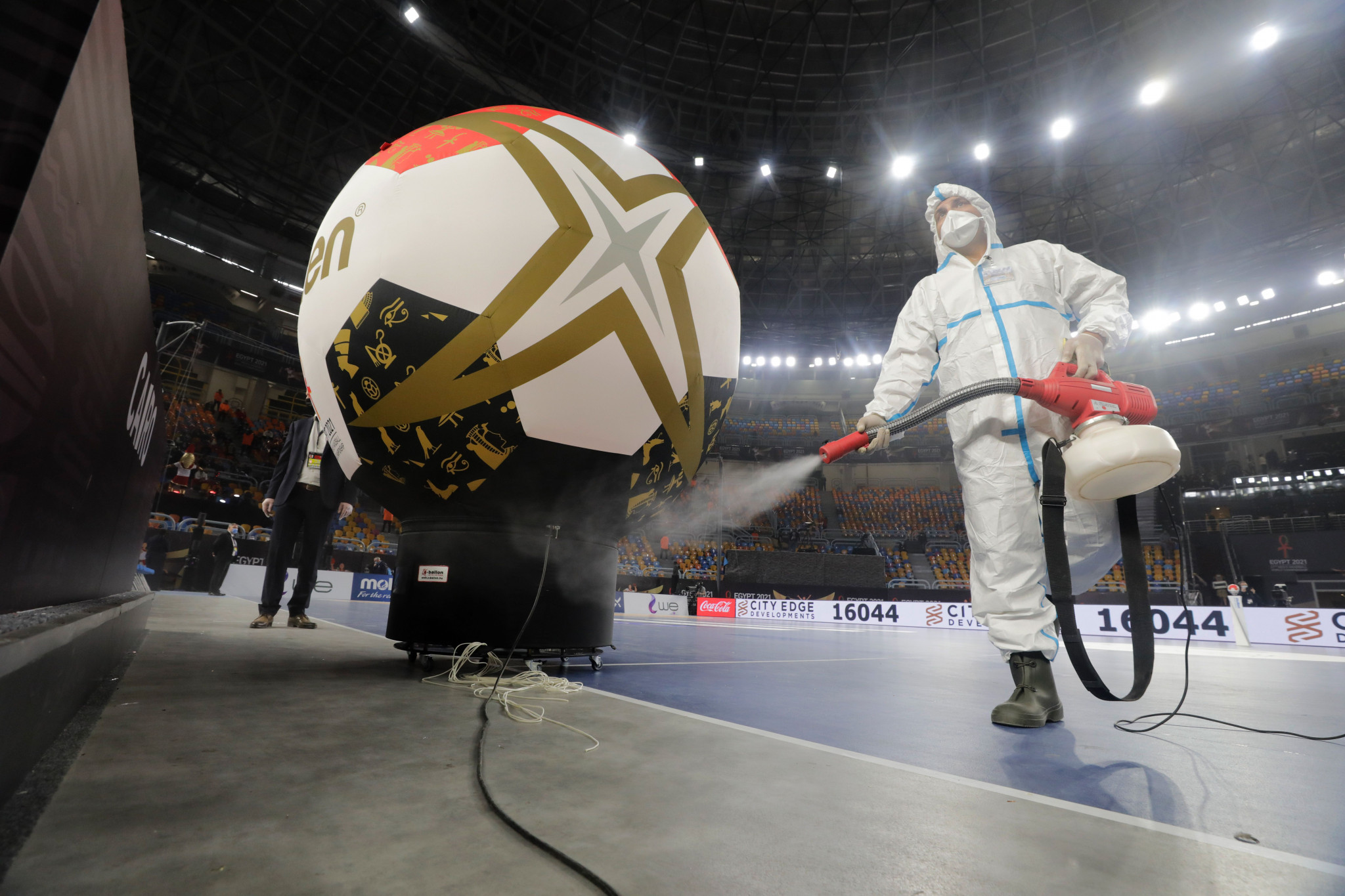 The IHF World Championship took place in Cairo under strict COVID-19 protocols to ensure players and officials were kept safe ©Getty Images