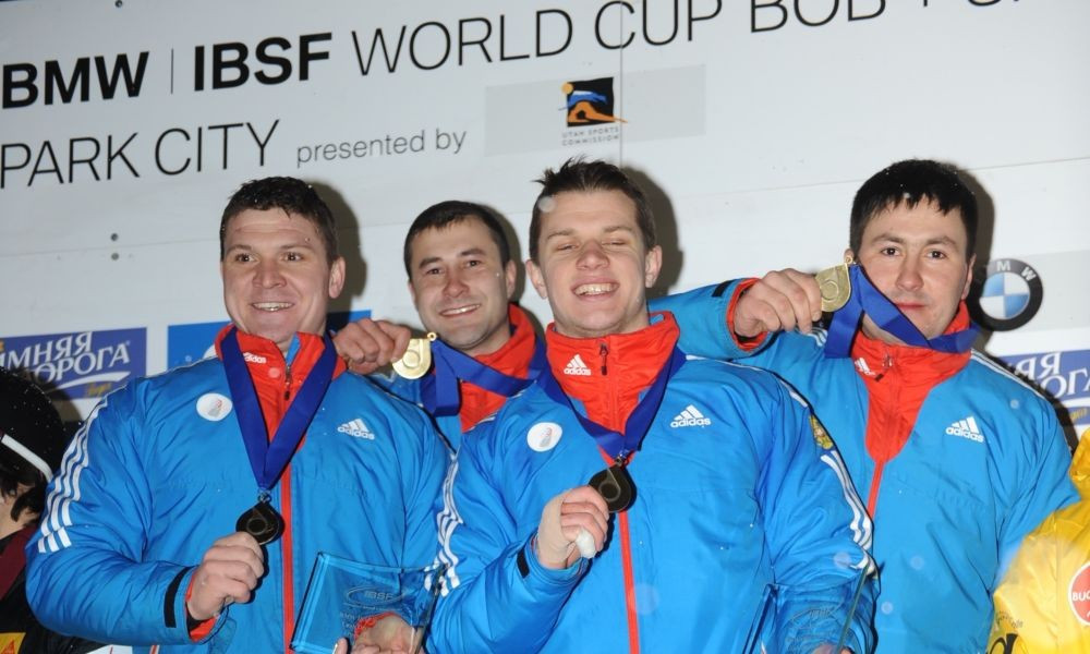 Kasjanov claims first World Cup victory as Russia win four-man bobsleigh event in Park City